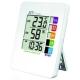 マザーツール 熱中症警戒表示付温湿度計 警戒度5段階表示 壁掛け用フック穴・スタンド付 MT-874
