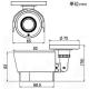 マザーツール フルハイビジョン超広角高画質防水型AHDカメラ 210万画素CMOSセンサー搭載 屋外用 MTW-S37AHD 画像2