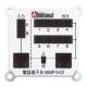 Abaniact マルチメディアパネルTEL 電話配線用端子台 TEL8ヶ所まで MMP(H3)+圧接ソケット KIT-TEL8-01