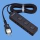 パナソニック ザ・タップFプレミアム 3コ口 2mコード付 ランプレス個別スイッチ付 ブラックレザー WHF2323BLBP