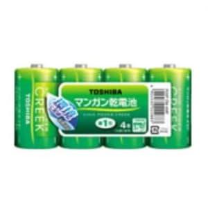 東芝 鉛無添加マンガン乾電池 単2形×4本入 《KING POWER CREEK》 まとめパック R14PEM4MP