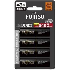 富士通 ニッケル水素電池 充電式電池 高容量タイプ 単3形 min.2450mAh 4個パック セパレートブリスターパック