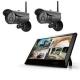 マザーツール 【カメラ2台セット】高解像度ワイヤレスセキュリティカメラシステム 防水型 200万画素 10.1型LCDタッチスクリーン MT-WCM300カメラ2台セット