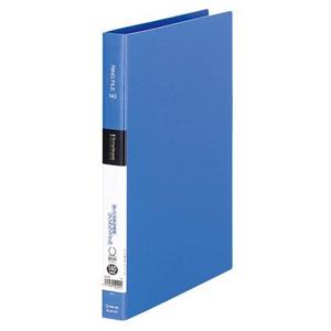 キングジム シンプリーズリングファイル A4タテ型 内径19mm 2穴 紙寄せ2枚・表紙ポケット付 青 641SPアオ