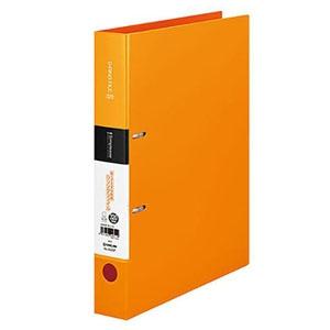 キングジム シンプリーズDリングファイル A4タテ型 内径32mm 2穴 紙寄せ1枚・表紙ポケット付 オレンジ 652SPオレンジ
