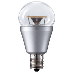 パナソニックLED電球 小形電球形 クリア電球タイプ 25W相当 電球色 E17口金 密閉型器具・断熱材施工器具・調光器対応LDA5L20-E17/C/D/W