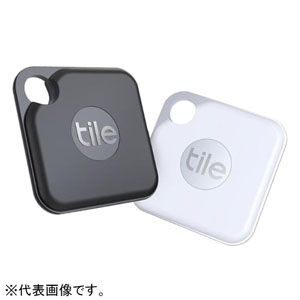 タイル(TILE) Tile Pro(2020) 電池交換版 防滴タイプ 2個パック ホワイト・ブラック×1 RT-20002-AP