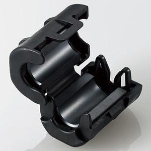 ELECOM フェライトコア 適応ケーブル径最大φ6.7mm NF-37SS