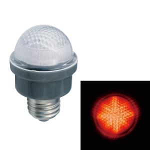 ジェフコム LEDサイン球 屋外用 口金E26 赤 PC12W-E26-R