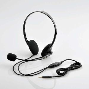 ELECOM(エレコム) 4局ヘッドセットマイクロフォン 両耳オーバーヘッド 1.8m HSHP22TBK 画像1