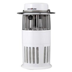 スイデン 吸引式捕虫器 100V 有効面積60㎡ コード長2m ホワイト NMT-15A1JG-W