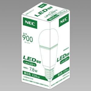 NEC LED電球 一般電球形60W相当 昼白色 E26口金 密閉器具・断熱材施工対応 LDA8N-G/S-キキ