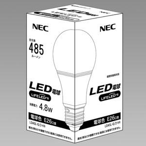 NEC LED電球 一般電球形40W相当 電球色 E26口金 密閉器具対応 LDA5L-G/2-キキ