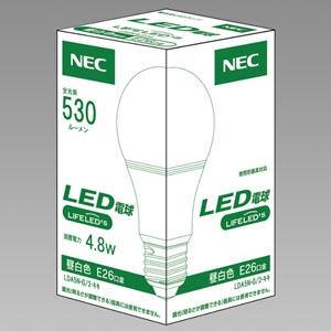 NEC LED電球 一般電球形40W相当 昼白色 E26口金 密閉器具対応 LDA5N-G/2-キキ