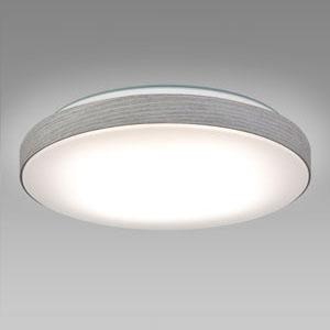NEC LEDシーリングライト ~8畳用 調光・調色タイプ 昼光色+電球色 リモコン付 スモーキーホワイト HLDC08234SG