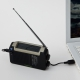 YAZAWA(ヤザワ) 手回し・ソーラー・USB充電式 電池が不要!AM/FMラジオ BL109RMSDBK 画像2