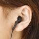 YAZAWA(ヤザワ) 【在庫限り】ボリューム付片耳イヤホン 3.0m インナーイヤータイプ Y01TMS1093BK 画像3