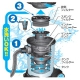 日動工業 爆吸クリーナー 屋内型 サイクロンセパレーター方式 乾湿両用 タンク容量35L 電線長5m 2Pプラグ付 NVC-S35L 画像4