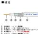 関西通信電線 衛星放送受信対応同軸ケーブル アルミ編組タイプ 100m巻き 黒 S-5C-FB-AL(クロ)×100m 画像2
