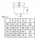 三栄水栓製作所 親子共栓 バスルーム用 呼び100(G4) 本体:ステンレス製、栓:NBR製 H220-100 画像3