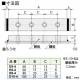 篠原電機 アース端子 E型 鋼板製 51~100A M6ネジ 4穴 E6-4 画像2
