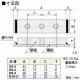 篠原電機 アース端子 E型 鋼板製 101~225A M8ネジ 3穴 E8-3 画像2
