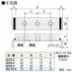 篠原電機 アース端子 EC型 鋼板製 226~400A M10ネジ 3穴 EC10-3 画像2
