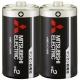 三菱 マンガン乾電池(黒) 単2形 2本パック R14PUD/2S