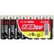 三菱 マンガン乾電池(黒) 単3形 8本パック R6PUD/8S