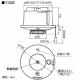 パナソニック 住宅用火災警報器 ねつ当番 定温式 天井埋込型 AC100V端子式・連動親器 警報音・音声警報機能付 検定品 SHK28217 画像2