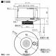 パナソニック 住宅用火災警報器 けむり当番 2種 天井埋込型 AC100V端子式・移報接点なし 警報音・音声警報機能付 検定品 和室色 SHK28515Y 画像2