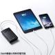 サンワサプライ スマートフォン・タブレット用モバイルバッテリー USB出力ポート2ポート搭載 8700mAh ホワイト BTL-RDC8W 画像4