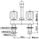 カクダイ 2ハンドル混合栓 台付けタイプ 151-006 画像2
