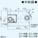 パナソニック サイドフード ACモータータイプ 左壁設置用 24時間・局所換気兼用 適用パイプ:φ150mm FY-9DPG2L-S 画像2