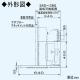 パナソニック 洗浄機能付きフラット形レンジフード エコナビ搭載 24時間・局所換気兼用 90cm幅 適用パイプ:φ150mm FY-90DWD3-S 画像4