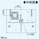 パナソニック スマートスクエアフード 調理機器連動タイプ 24時間・局所換気兼用 3段速調付 60cm幅 適用パイプ:φ150mm ブラック FY-6HGC4-K 画像4