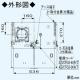 パナソニック スマートスクエアフード 給気シャッター連動形 公共住宅用(BL排気3型)  3段速調付 60cm幅 適用パイプ:φ150mm ブラック FY-6HZC4S3-K 画像4