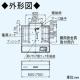 パナソニック 浅形レンジフード ターボファンタイプ 局所換気専用 角ダクト接続形 60cm幅 排気口寸法:300×110mm FY-60HF4 画像2