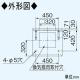 パナソニック キッチンフード スイッチ付・換気扇連動タイプ 背面排気 組立式 60cm幅 鋼板製 FY-60HS2 画像2