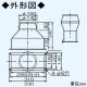 パナソニック 角丸アダプター(ストレート排気) 浅型レンジフード用 材質:亜鉛鋼板 FY-AC601 画像2
