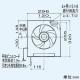 三菱 標準換気扇 一般住宅用 台所用 連動式シャッター・速調付 引きひも付 20cm EX-20KJ6-BL 画像2