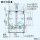 三菱 電動給気シャッター 防火ダンパー付 給気関連システム部材 適用パイプ:φ150mm P-18QDDL6-BL 画像2