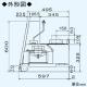 三菱 レンジフードファン 深形 58cm幅タイプ(取替対応) 接続パイプ:φ150mm V-584H3 画像3