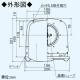 三菱 防火ダンパー付薄壁対応深形フード ダクト用 防虫網・ワイド水切板付 適用パイプ:φ100mm ステンレス製 P-13VSQDM4 画像2