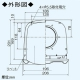 三菱 薄壁対応深形フード ダクト用 防虫網・ワイド水切板付 適用パイプ:φ100mm ステンレス製 P-13VSQM4 画像2