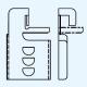 三菱 ダクト用換気扇グリル調整金具 2個1組 ステンレス製 P-1D 画像1