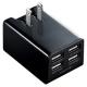 サンワサプライ USB充電器 合計4.8A USB4ポート ブラック ACA-IP38BK 画像1