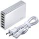 サンワサプライ 6ポートUSB充電器 合計10A 出力自動判別機能搭載 ホワイト ACA-IP40W 画像1