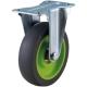 トラスコ中山 取り替えキャスター weego専用 固定式 省音タイプ 車輪径75mm ライトグリーン TYER-75ELB-WC-LGN 画像1
