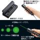 サンワサプライ クラス3Rグリーンレーザーポインター LP-GL1007BK 画像4